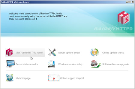 Click to view RaidenHTTPD web server screenshots